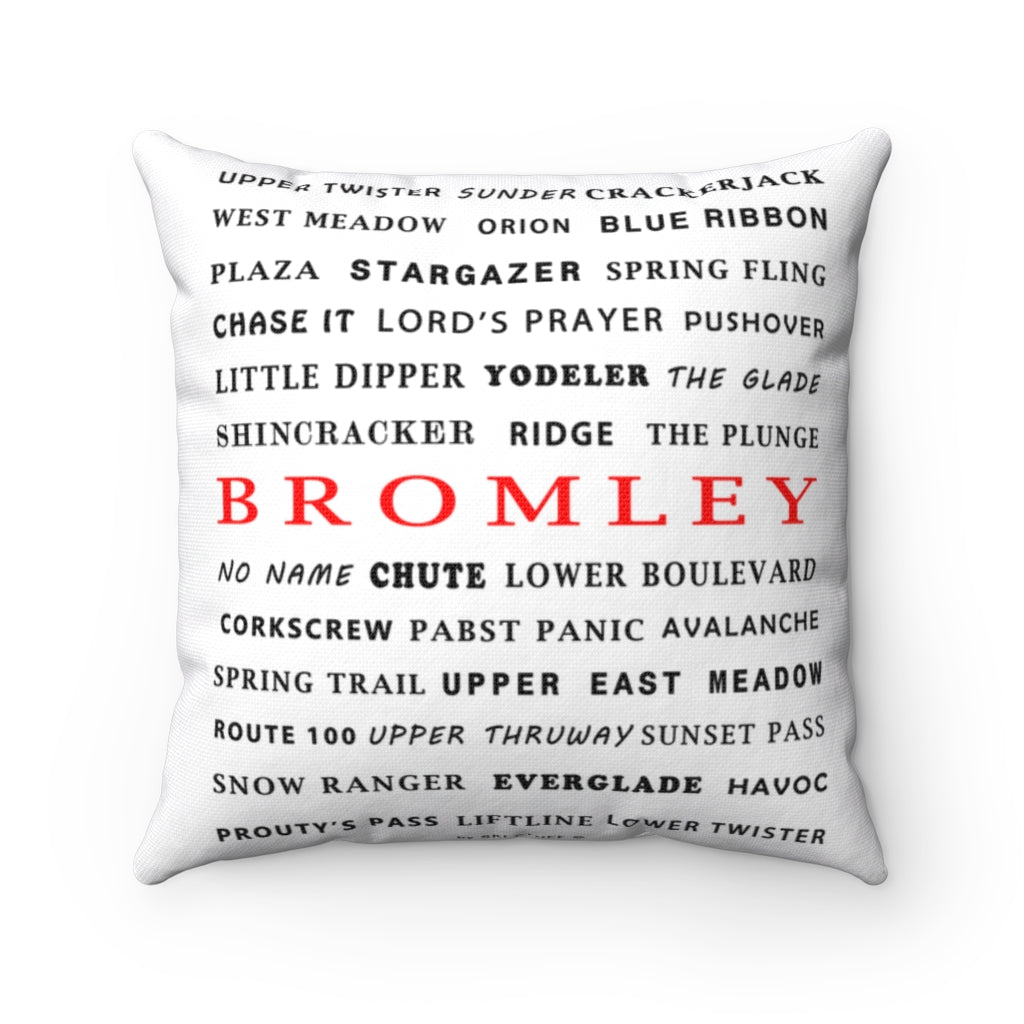 Skiing Trails Bromley - Throw Pillow