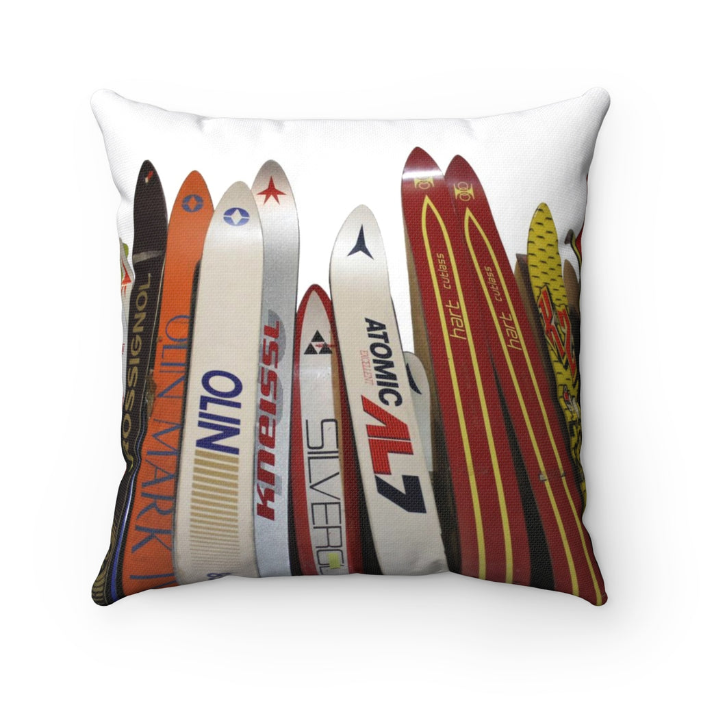 Skis - Throw Pillow