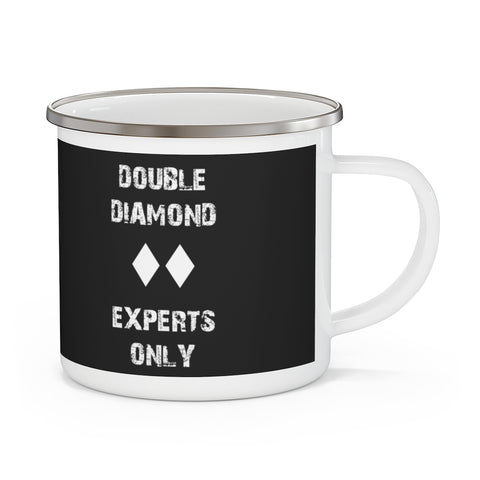Double Diamond Experts Only - Enamel Camping Mug