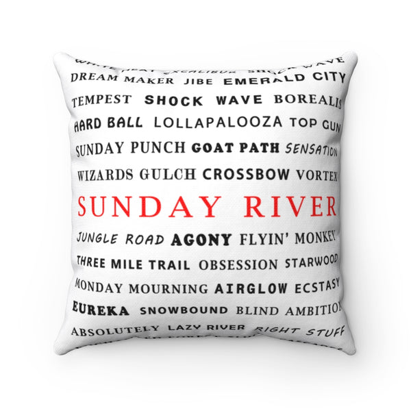 Skiing Trails Sunday River - Throw Pillow