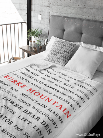 Burke Mountain - Throw Blanket