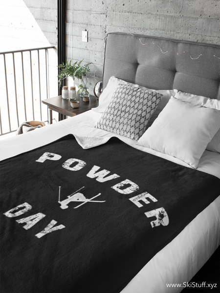Fleece Blankets - Powder Day Black