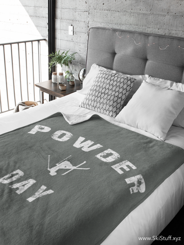 Fleece Blanket - Powder Day Gray