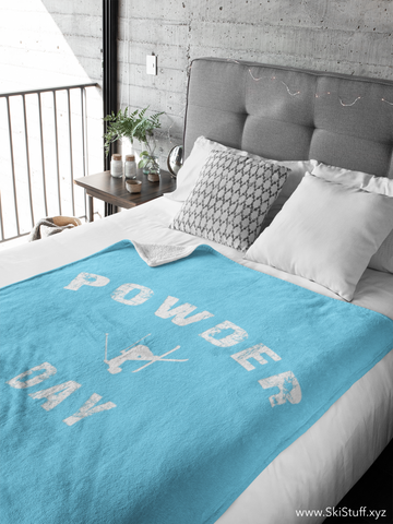 Fleece Blanket - Powder Day Light Blue