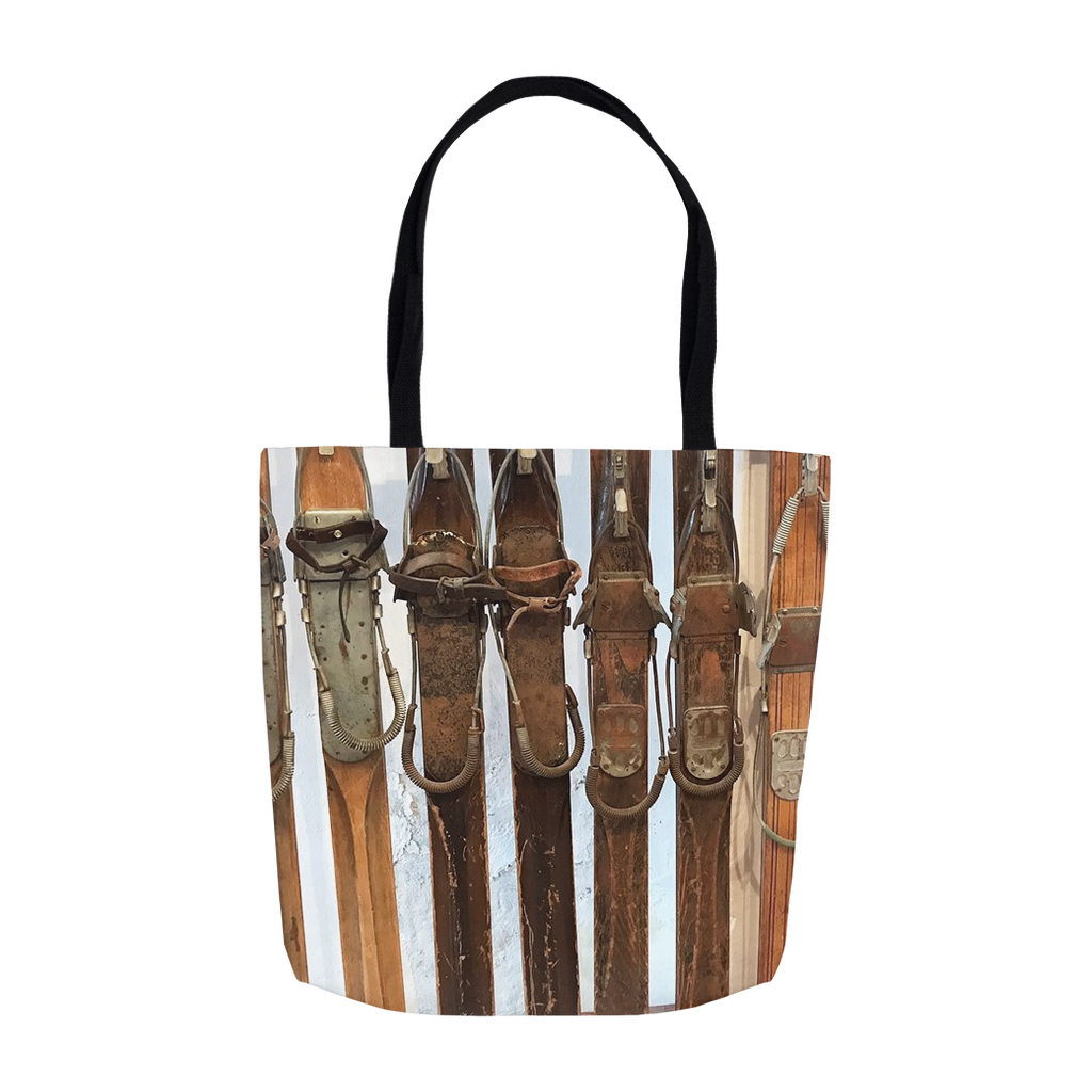 Wooden Skis - Tote Bag
