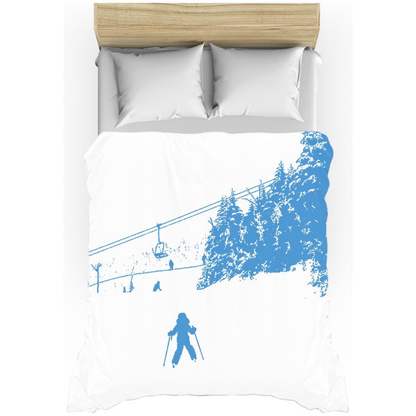 Little Skier - Duvet Cover