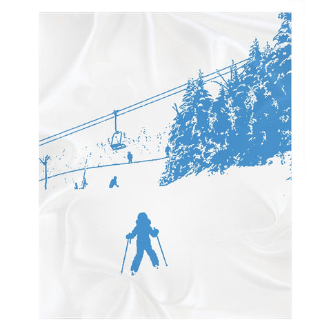 Little Skier - Throw Blanket