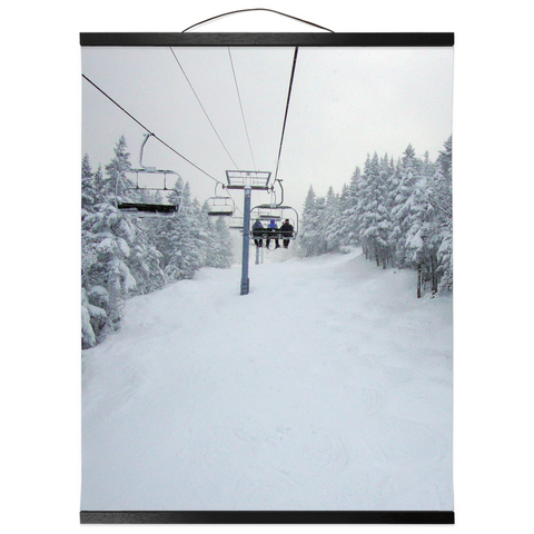Hanging Canvas Print - Chair Lift Vermont