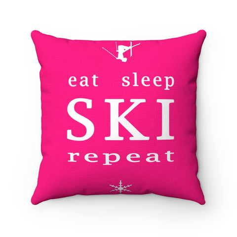 Eat Sleep SKI - Throw Pillow