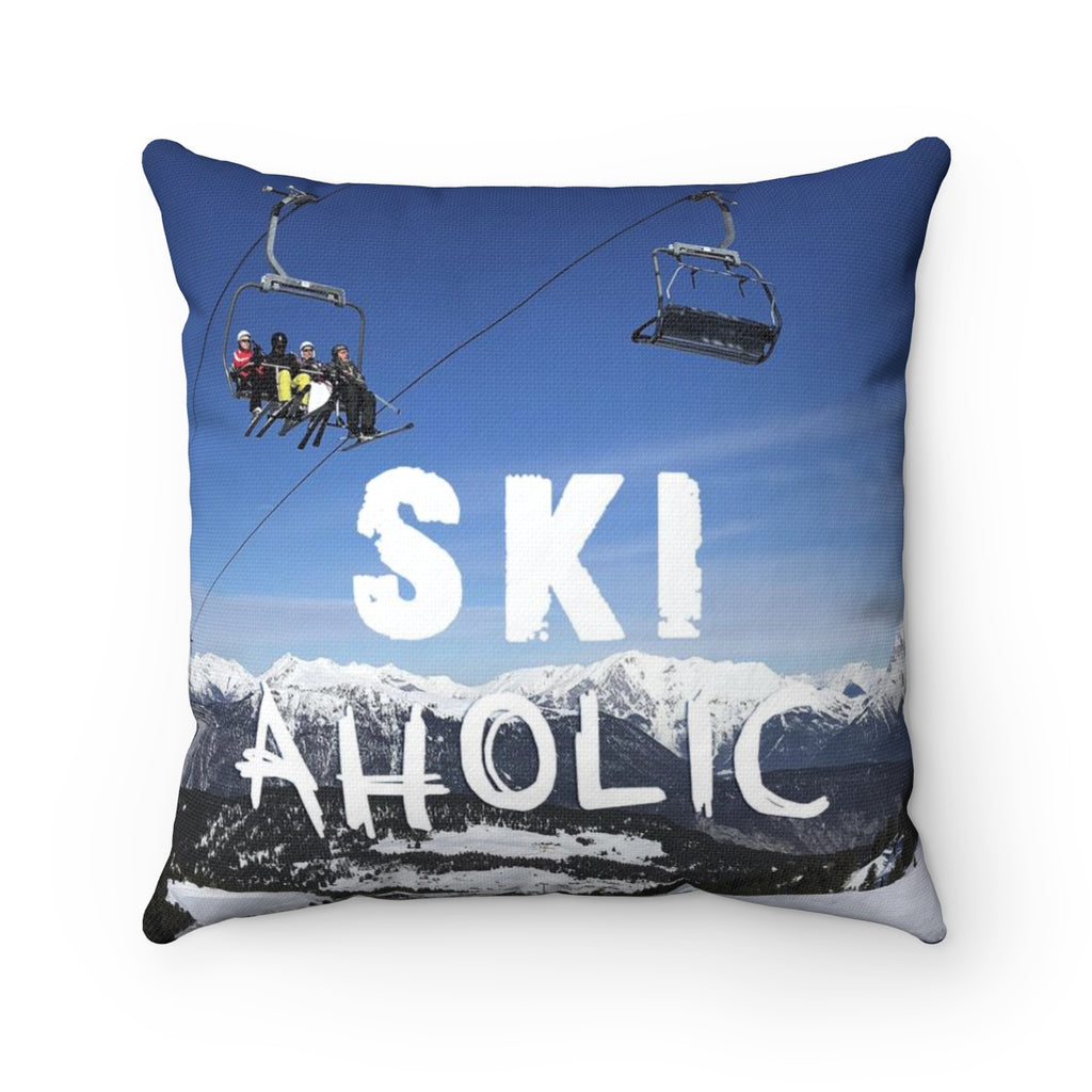 SkiAholic - Throw Pillow