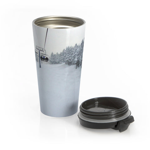 Stainless Steel Travel Mug - Chair Lift