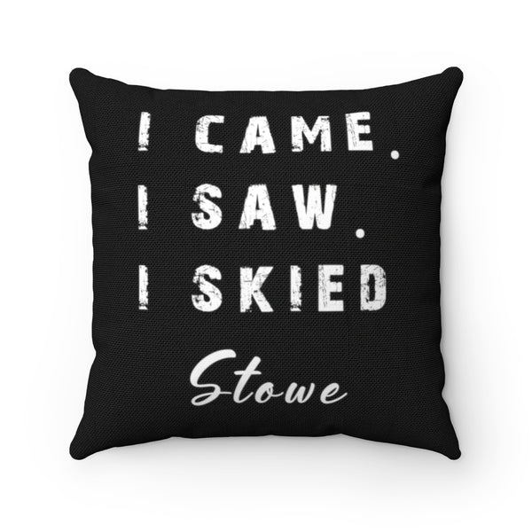 I skied Stowe - Throw Pillow