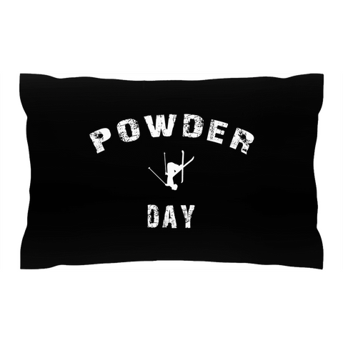 Powder Day Black - Pillow Sham