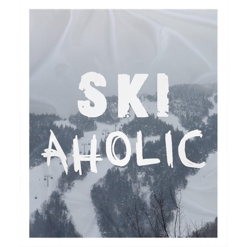 Ski Aholic - Throw Blanket