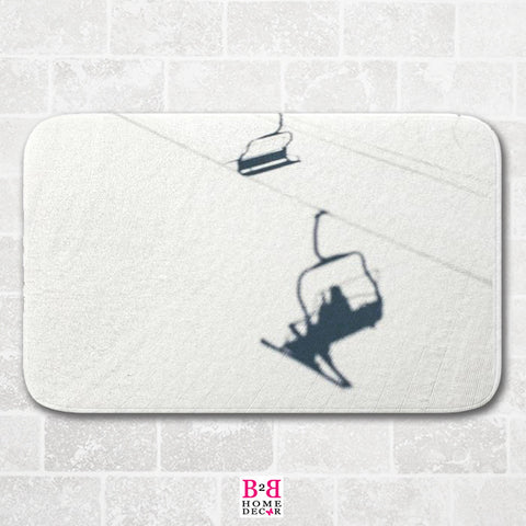 Chair Lift Shadow - Bath Mat