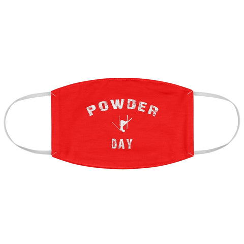 Powder Day Red - Fabric Face Mask