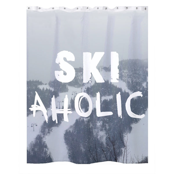 Ski Aholic - Shower Curtain