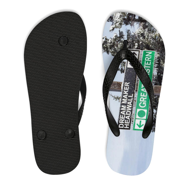 Unisex Flip-Flops - Dreammaker Trail Sign