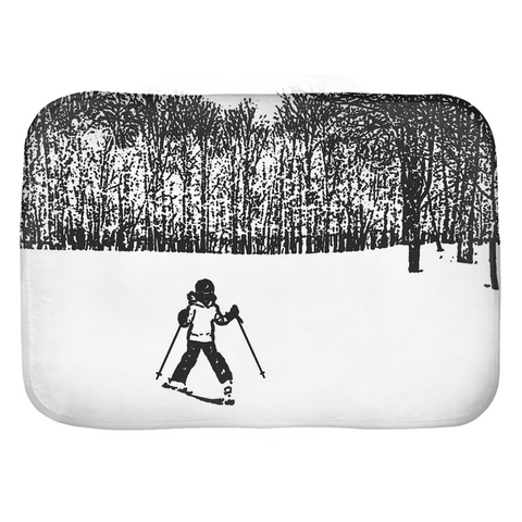 Little Skier - Bath Mat