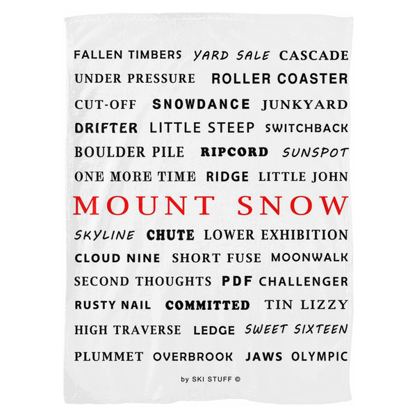 Mount Snow - Fleece Blanket
