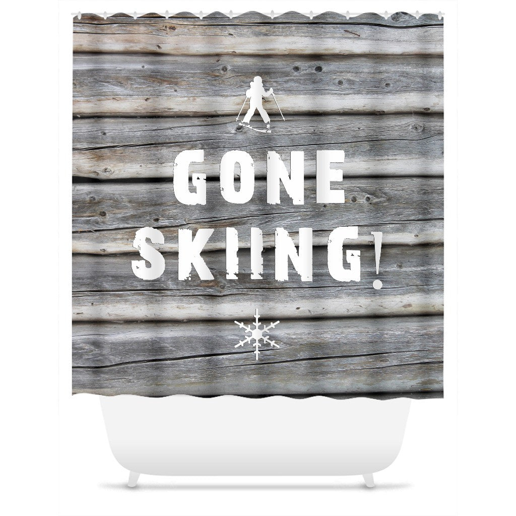 Gone Skiing - Shower Curtain