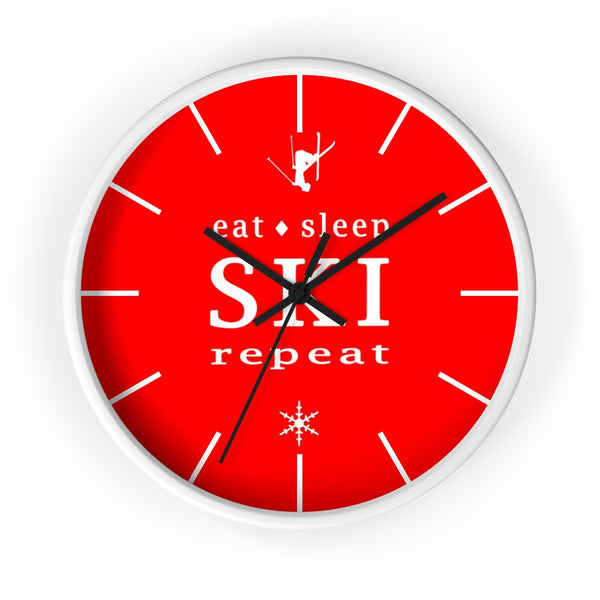 Wall clock - Eat Sleep SKI Repeat