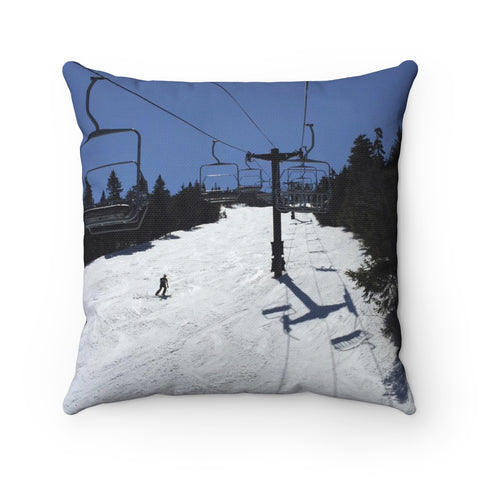 Spring Skiing - Throw Pillow