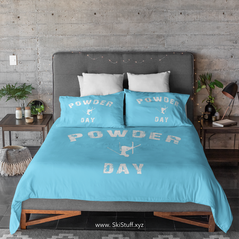 Powder Day Light Blue - Duvet Cover