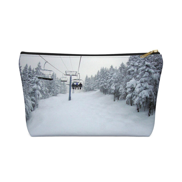 Chair Lift Vermont - Accessory Pouch w T-bottom