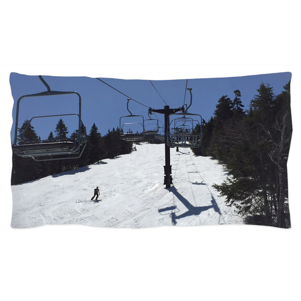 Blue Bird Skiing - Pillow Sham