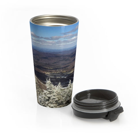 View from Killington - Stainless Steel Travel Mug