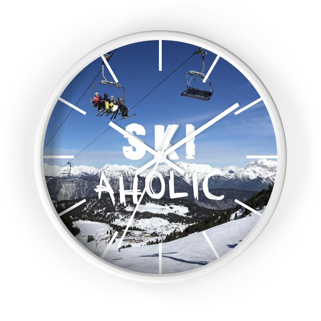 Wall clock - SkiAholic