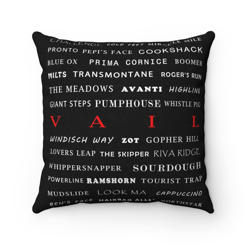 Skiing Trails Vail - Throw Pillow