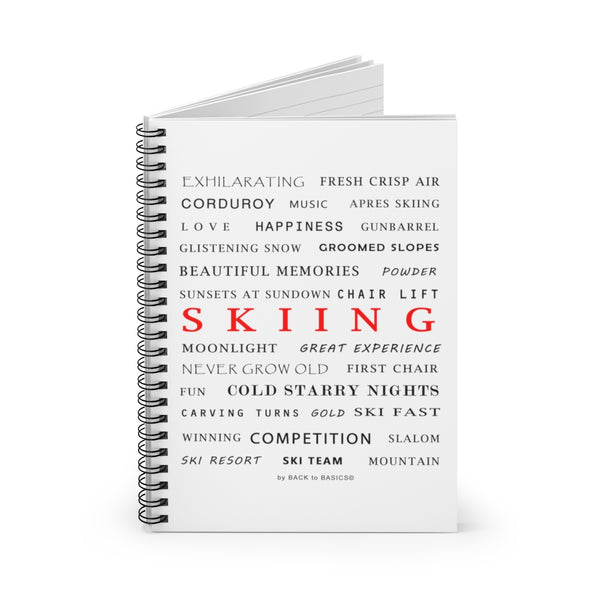 Spiral Notebook - Skiing Memories
