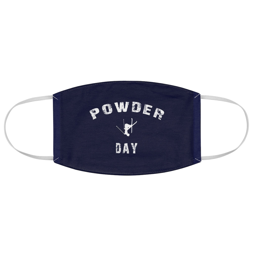 Powder Day Navy Blue - Fabric Face Mask