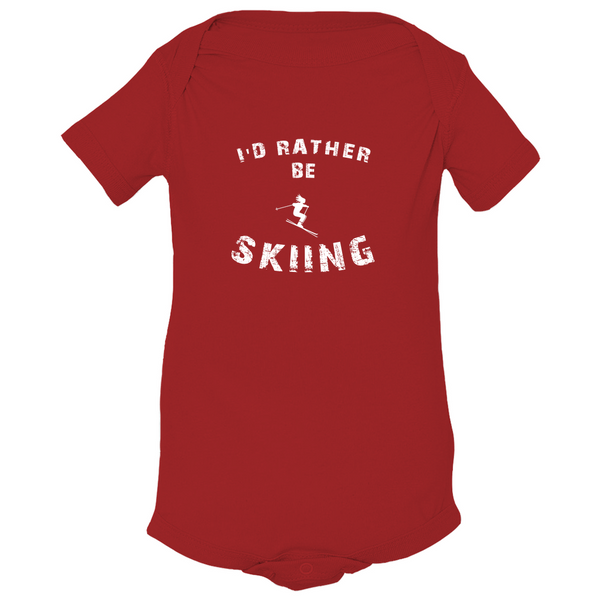 Baby Bodysuit - I'd Rather be Skiing