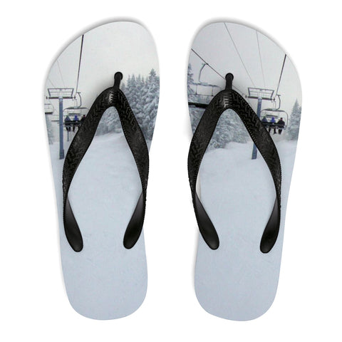 Unisex Flip-Flops - Chair Lift Vermont