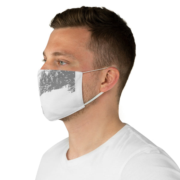Little Skier Gray - Fabric Face Mask