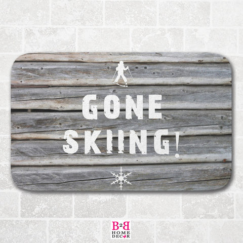 Gone Skiing - Bath Mat