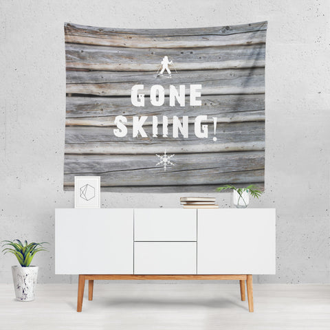 Gone Skiing - Wall Tapestry