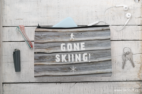 Gone Skiing - Accessory Pouch w T-bottom