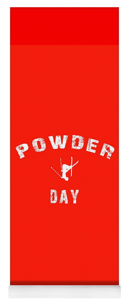 Powder Day Red - Yoga Mat