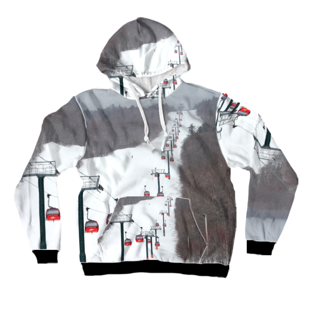 All-Over Print Pullover Hoodie - Stowe Gondola