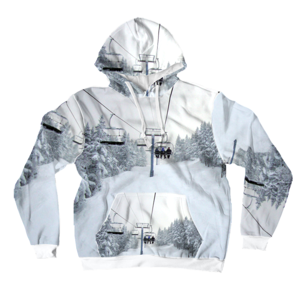 All-Over Print Pullover Hoodie - Chair Lift Vermont