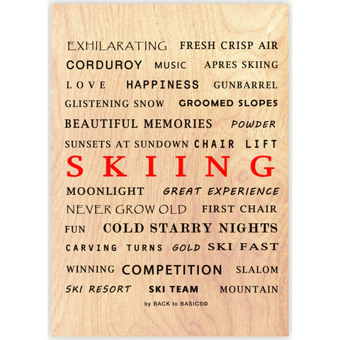 Skiing - Wood Print