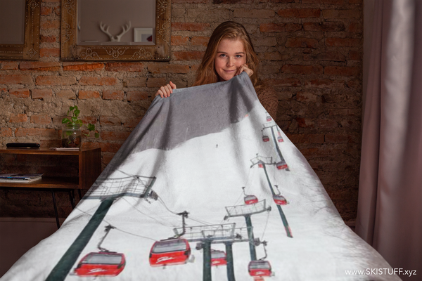 Stowe Mountain Gondola - Throw Blanket