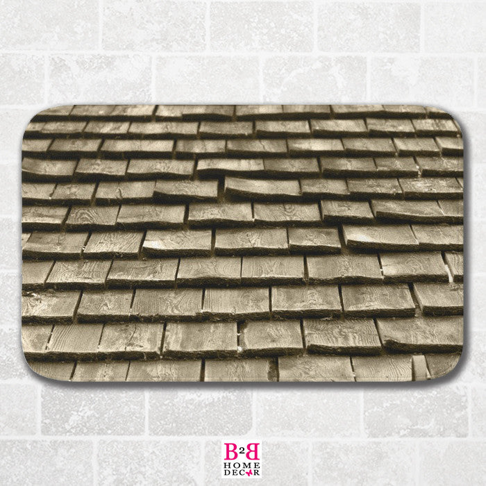 Wood Shingles - Bath Mat
