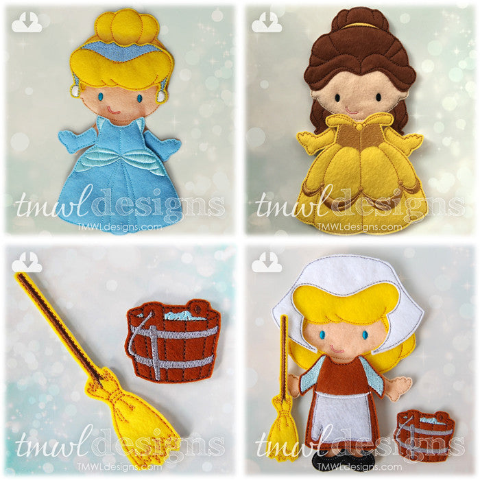 New Princess Felt Paper Doll Designs Available