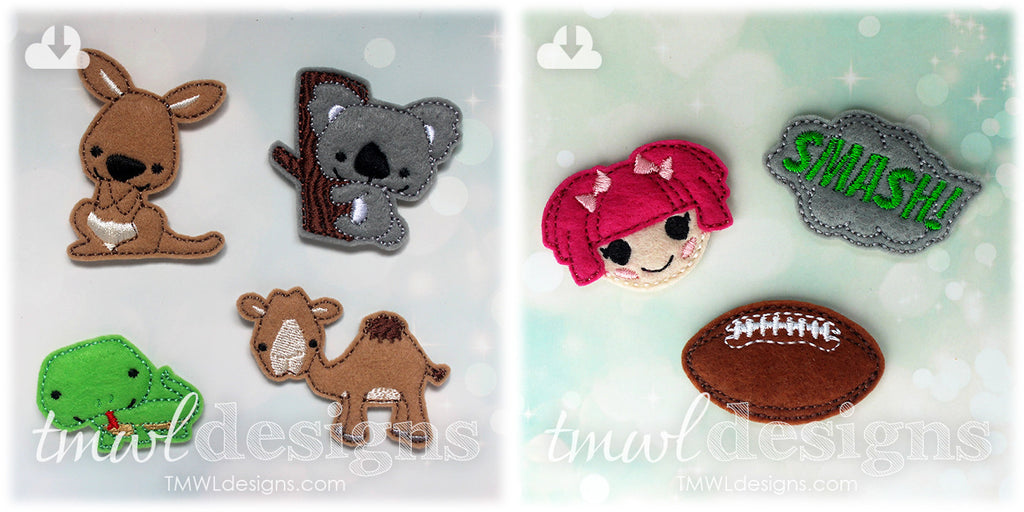 New Feltie Designs Now Available