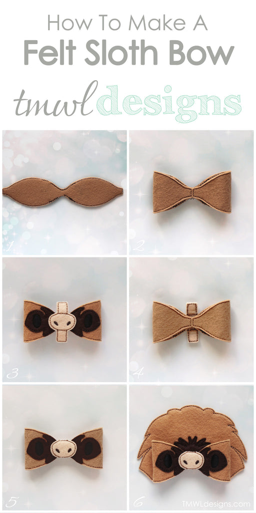 How To Make A Sloth Felt Bow